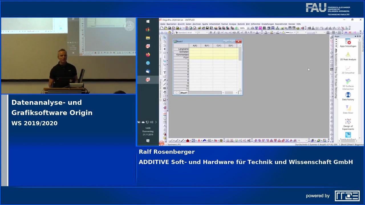 Origin Workshop an der FAU Erlangen-Nürnberg