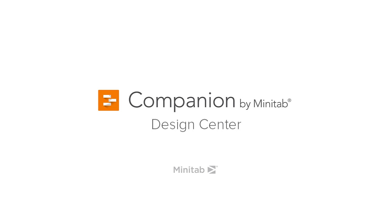 Design Center im Companion by Minitab
