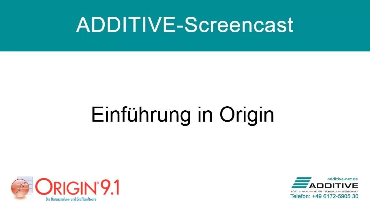 Einführung in Origin 9.1