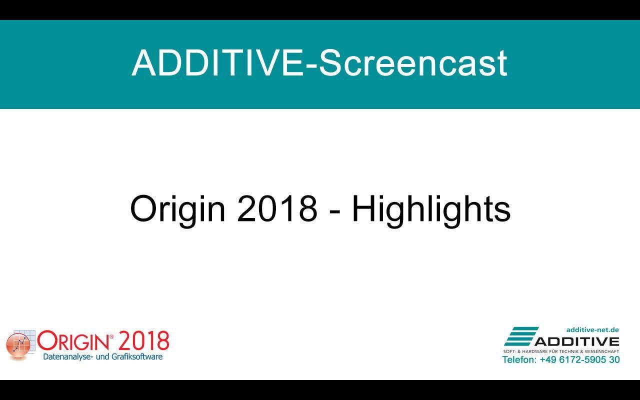 Highlights in Origin 2018
