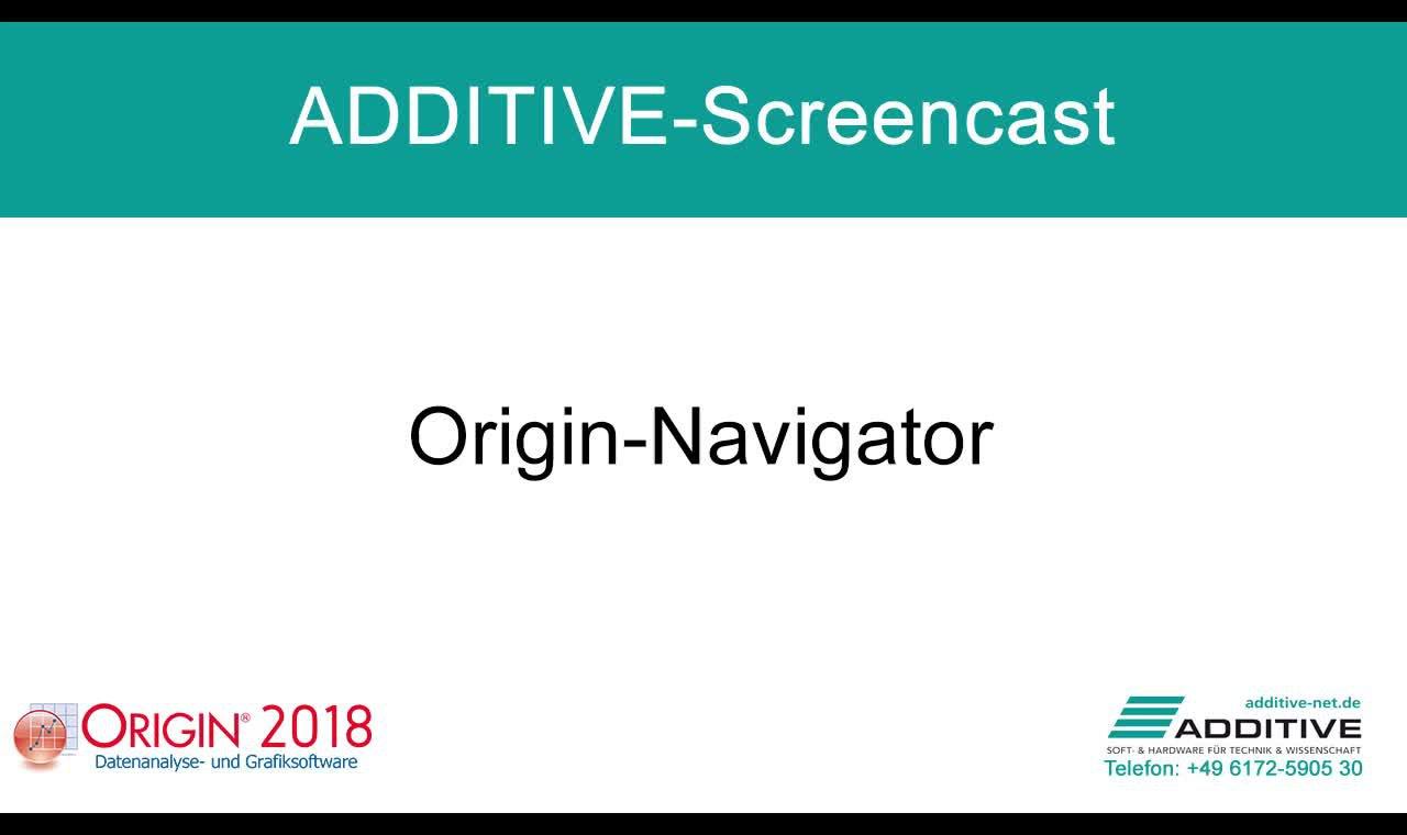 Navigator in Origin