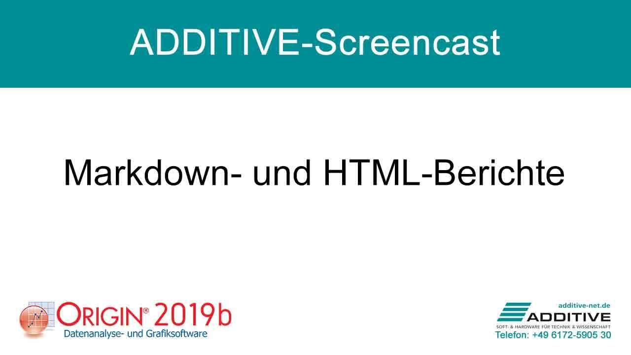 Erstellen von Markdown- und HTML-Berichten in Origin
