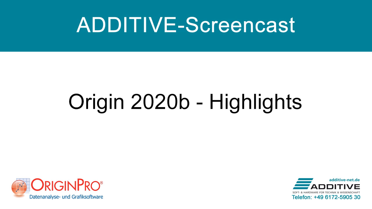 Highlights in OriginPro 2020b