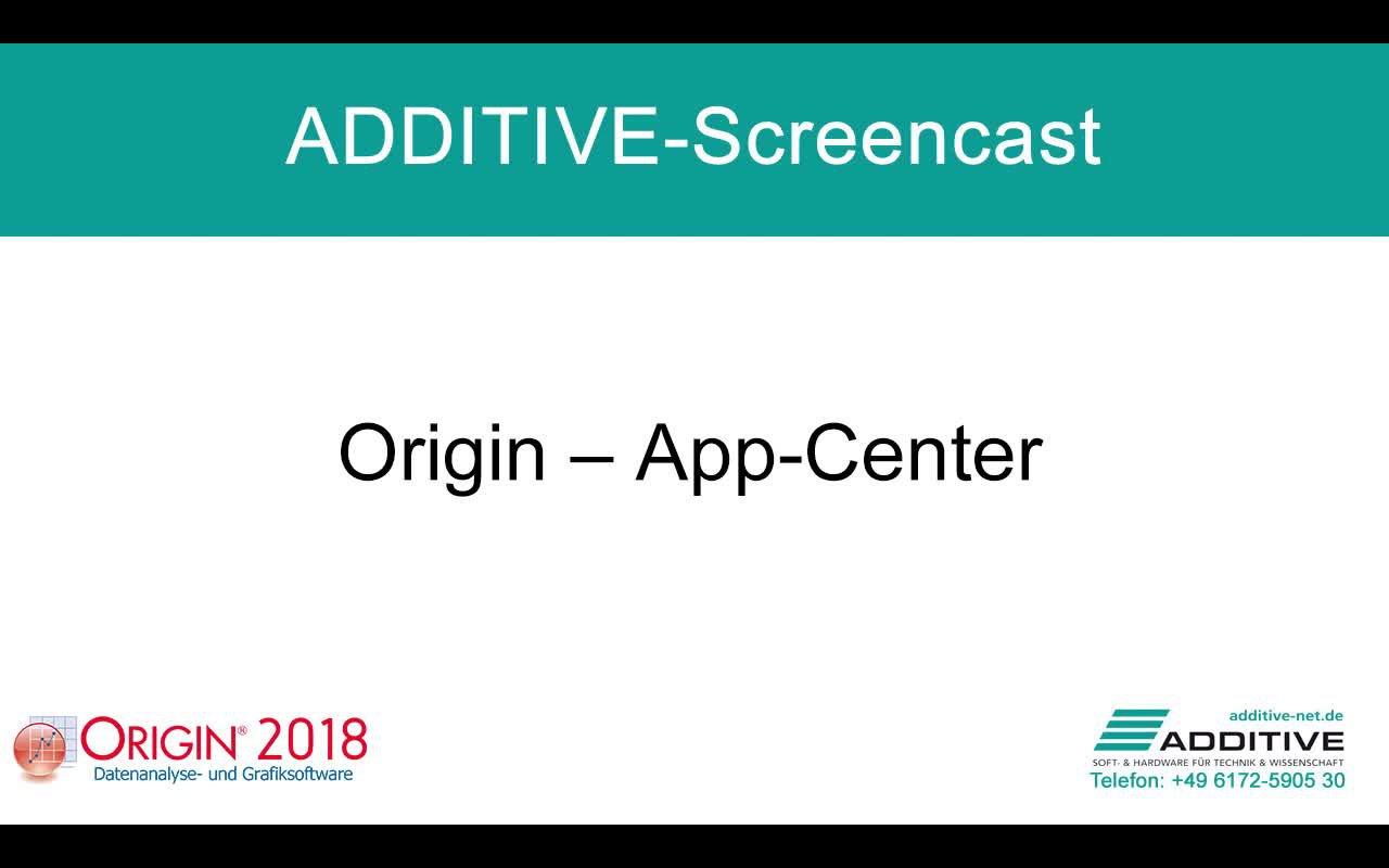 App-Center in Origin