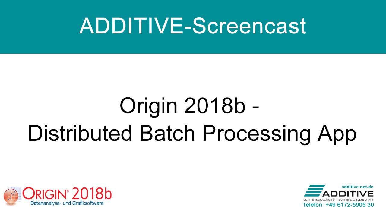 Distributed Batch Processing App in Origin