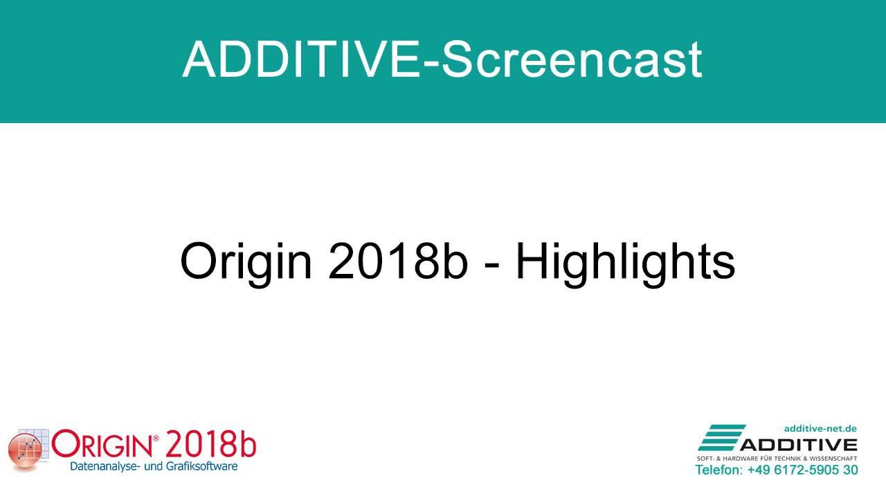 Highlights in Origin 2018b