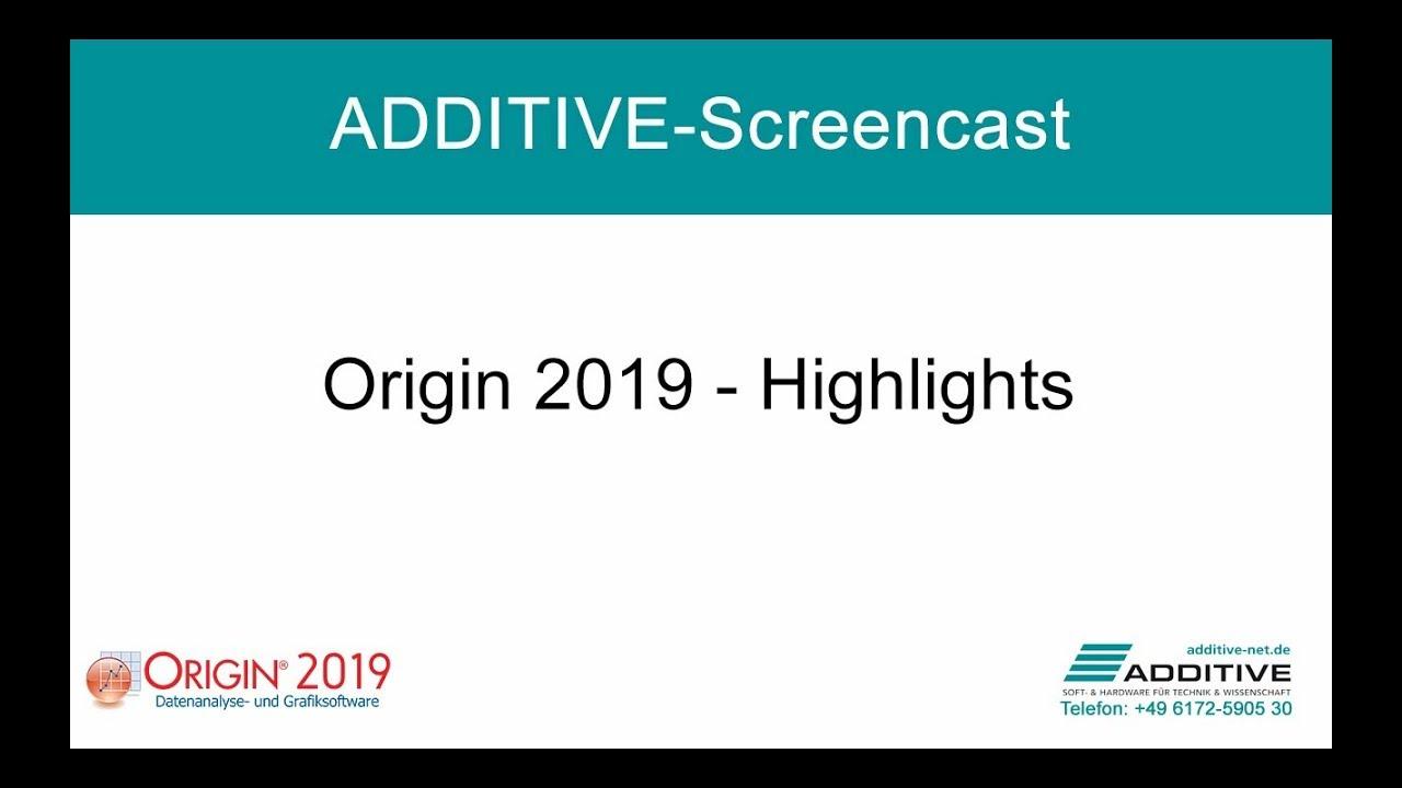 Highlights in Origin 2019