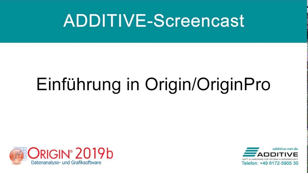 Einführung in Origin und OriginPro 2019b
