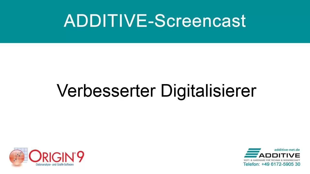 Verbesserter Digitalisierer für den Dateiaustausch in Origin