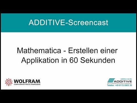 Erstellen einer Applikation in 60 Sekunden in Mathematica