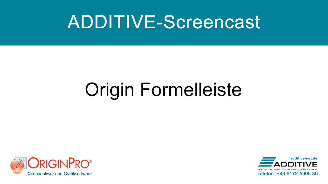Formelleiste in OriginPro 2021