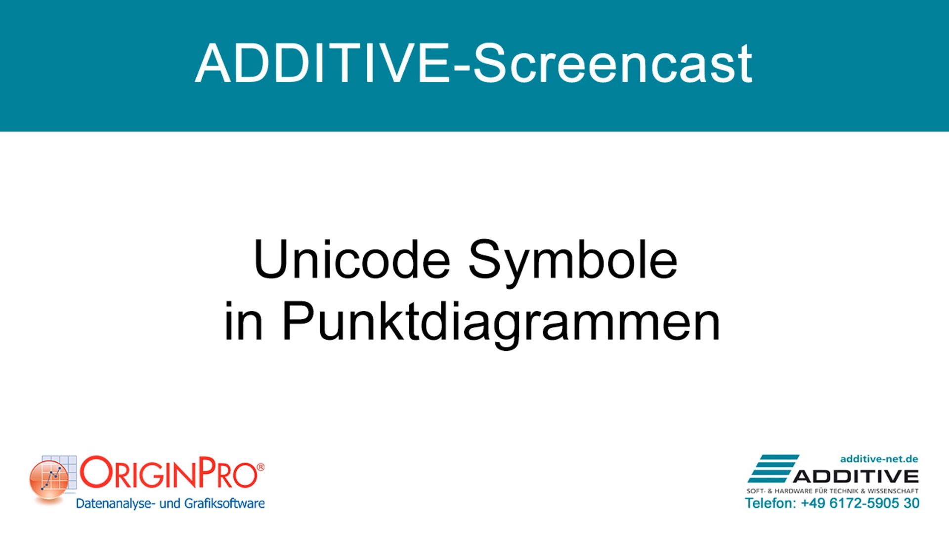 Unicode-Symbole in Punktdiagrammen in OriginPro 2021
