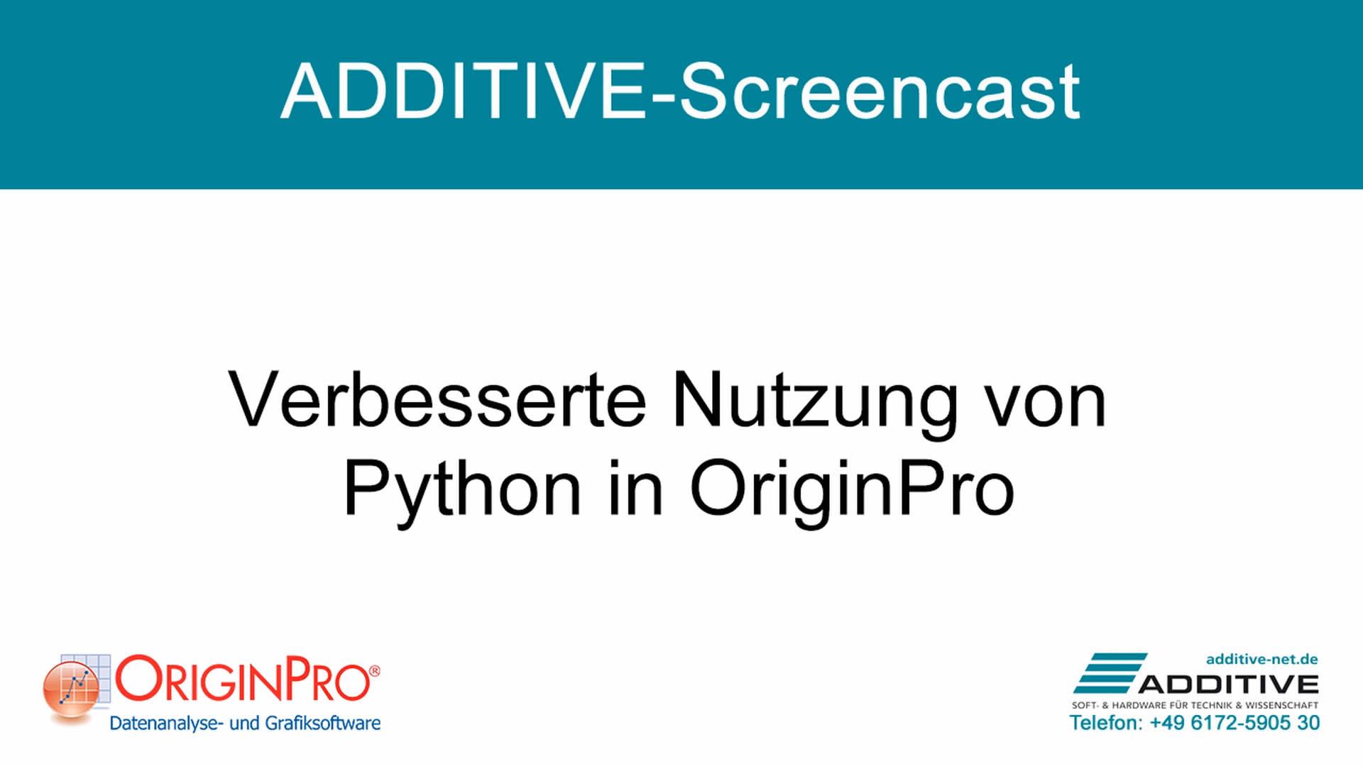 Verbesserte Verwendung von Python in OriginPro 2021